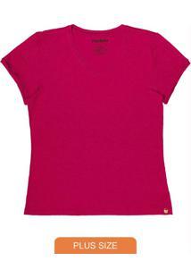 Blusa Feminina Básica Plus Rosa