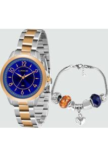 Kit Relógio Feminino Lince Lrt4504L Ku53D2Sr