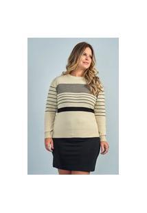 Blusa Listrinhas Feminina Plus Size Ref.51696