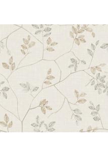 Papel De Parede Stickdecor Adesivo Floral Galhos Bege 3Mt A 1,00Mt L