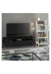 Rack Para Tv Até 65 Polegadas Madesa Londres E Estante Escada - Preto/Branco
