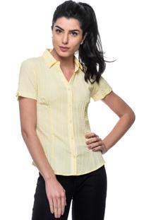 Camisa Intens Manga Curta Algodão Amarelo