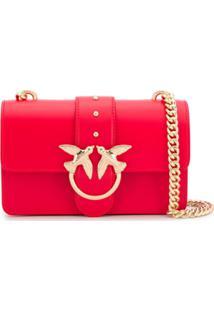 Pinko Love Crossbody Bag - Vermelho