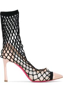 dfbe448e03 ... Pinko Sapato Meia Com Padronagem Vazada - Rosa