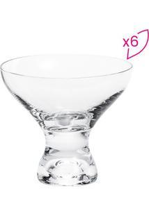 Jogo De Taças Para Sobremesa Leda- Cristal- 6Pçsrojemac