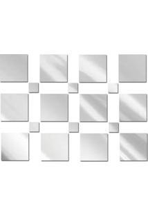 Espelho Decorativo De Vidro 18 Quadrados Personalizável 110 X 80 Cm