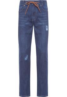 Calça Masculina Jeans Dry - Azul