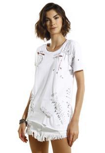 Camiseta John John Amy Malha Off White Feminina (Off White, Gg)