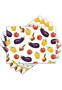Jogo Americano - Legumes Com 4 Peças - 1021Jo