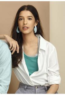 Camisa Básica Feminina Com Fechamento Por Botão