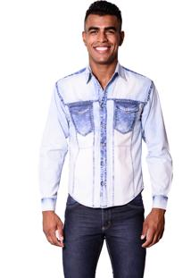 Camisa Jeans Zimpool Slim Collin Azul