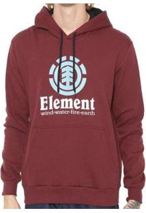 Moletom Element Vertical Masculino - Masculino-Vinho