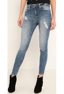 Jeans High Skinny Long Ucrania- Azul Claro- John Johjohn John