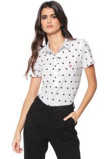 Ir para a loja  -43% Camisa Polo Dudalina Estampada Branca 5c3029f95c70c