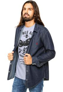 Camisa Jeans Reserva Slim Azul