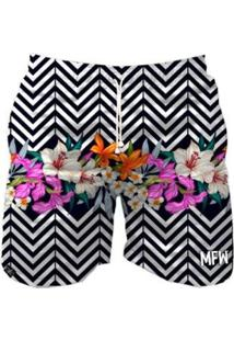 Short Tactel Maromba Fight Wear Zig Zag Flowers Com Bolsos Masculino - Masculino