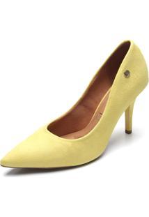 Scarpin Vizzano Camurça Amarelo