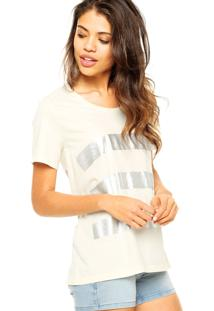 Blusa Manga Curta Eva Careca Foil Off-White