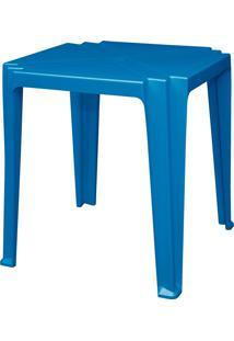 Mesa Quadrada Tambaú Azul De Plástico 92314070 Tramontina