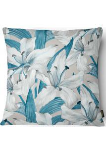 Capa Para Almofada 43X43Cm Silk Home 012 - Belchior - Azul / Branco