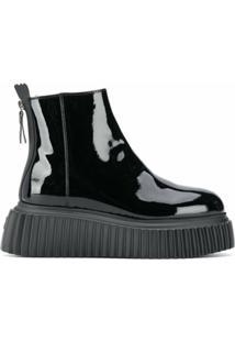 Agl Ankle Boot Envernizada - Preto