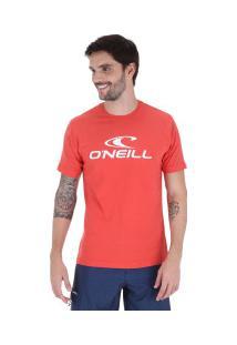 Camiseta O'Neill Estampa Corporate - Masculina - Vermelho
