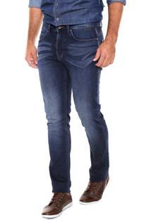Calça Jeans Wrangler Slim Larston Azul-Marinho