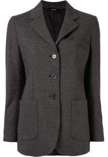 Aspesi Fitted Single-Breasted Blazer - Cinza