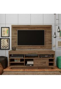 Rack Painel Para Tv Até 47 Polegadas 2 Prateleiras Roma Artely Rustico