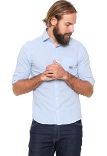 Camisa Linho Von Dutch Bolso Azul