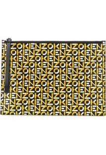 Kenzo Clutch Com Estampa De Logo - Amarelo