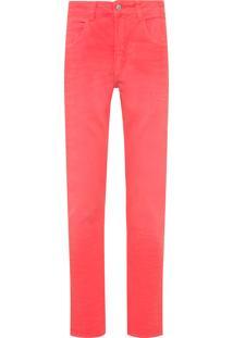 Calça Masculina Jeans 5 Pockets Layered Dyed - Vermelho