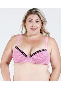 Sutiã Feminino Plus Size Estampa Bolinhas Marisa