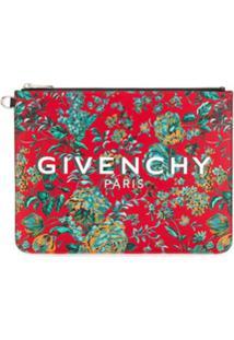 Givenchy Clutch Com Estampa Floral - Vermelho