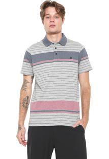 Camisa Polo Hurley Reta Senior Cinza