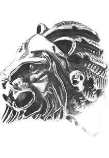Anel Prata Mil Leão De Prata (Unidade) Prata - Kanui