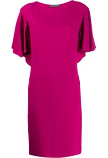 Alberta Ferretti Boat Neck Shift Dress - Rosa