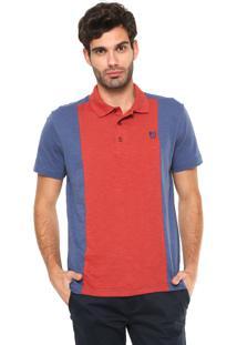 Camisa Polo Mr Kitsch Recortes Laranja