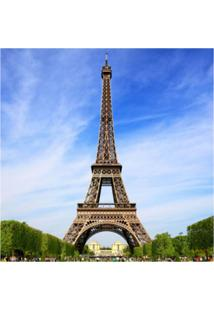Placa Decorativa Torre Eiffel 25X25 Cm Preto