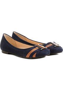 Sapatilha Couro Shoestock Elástico Gorgurão Bali - Feminino-Caramelo