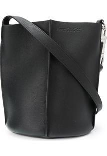 Acne Studios Small Embossed Logo Shoulder Bag - Preto