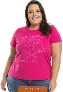 T-Shirt Estampada Spirit Rosa