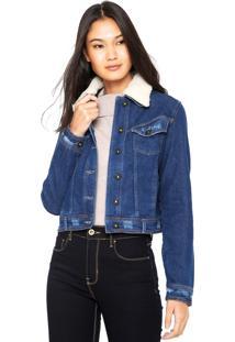 Jaqueta Jeans Lunender Bolsos Azul