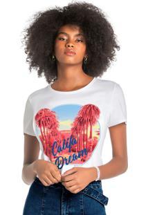 Blusa Branca Califórnia Dream