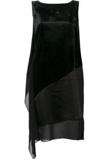 Lanvin Vestido Com Recortes - Preto