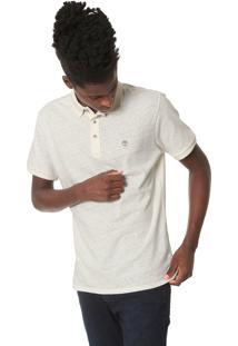 Camisa Polo Timberland Reta Básica Off-White