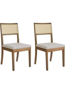 Kit Com 2 Cadeiras De Madeira Maciça Mh3230 Móveis Herval