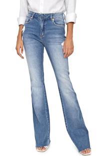Calça Jeans Carmim Flare Bia Azul