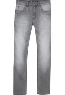 Calça John John Slim Leon Jeans Cinza Masculina (Jeans Black Claro, 42)