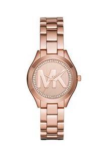Relógio Michael Kors Feminino Mini Slim Runway Rosé